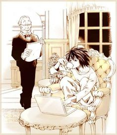 Watari and L - Death Note FAVORITE CHARACTERS EVER!!