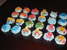 Sea Creatures (Squid, Whale, Octopus, fish, starfish, shark) Cupcakes
