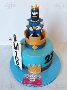 Clash Royale cake by Arty cakes Torta Clash Royale, Birthday Wall, Birthday Cakes, Royal Cakes, Ideas Para Organizar, Themed Cakes, Party Cakes, Cake Pops, Fondant
