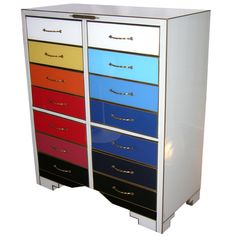 Different color per drawer--bead storage