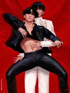 Jungkook Hot, Jungkook Fanart, Vkook Fanart, Taekook, Kpop Love, Korean Boys Hot, Hot Stories, Bts Photo, K Pop