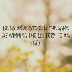 Absolutely. #INFJ