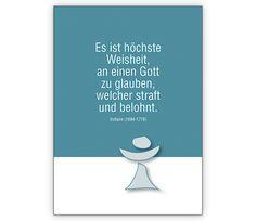 Religiöse Glückwunschkarte mit Voltaire Zitat - http://www.1agrusskarten.de/shop/religiose-gluckwunschkarte-mit-voltaire-zitat/    00012_0_2768, christlich, Firmung, Grusskarte, Helga Bühler, Klappkarte, Kommunion, Konfirmation, Religion, religiös00012_0_2768, christlich, Firmung, Grusskarte, Helga Bühler, Klappkarte, Kommunion, Konfirmation, Religion, religiös