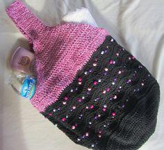 Beaded Crochet Market Bag Shoulder Tote Beach  by BillyGoatsBuffet