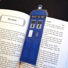 Blue Tardis Doctor Who Laminated Bookmark ($4.00 on Etsy, if you want to buy instead of attempting to make your own)