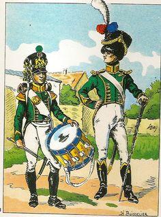 French; Imperial Guard, Pupilles, Drummer & Drum-Major, June 1812