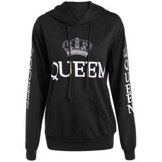 SHARE & Get it FREE | Pullover Queen Print Drawstring HoodieFor Fashion Lovers only:80,000+ Items·FREE SHIPPING Join Dresslily: Get YOUR $50 NOW!