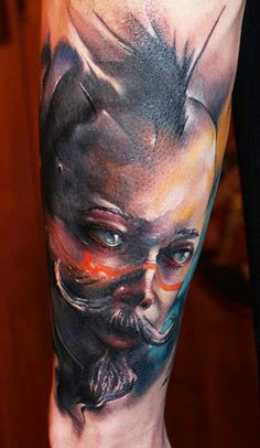 Tattoo Artist - Dmitry Vision - face tattoo | www.worldtattoogallery.com
