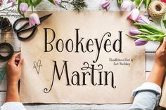 Bookeyed Martin font @creativework247