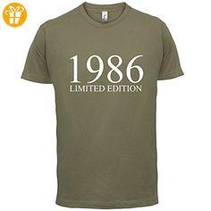 1986 Limierte Auflage / Limited Edition - 31. Geburtstag - Herren T-Shirt - Khaki - M (*Partner-Link)