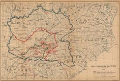 The Cherokee Country Map - 1900 - Photo - Reproduction - Photograph - Print - Cherokee Indian - Native American - History - Old Map - Art Native American Legends, Native American Tribes, Native American History, Cherokee History, Cherokee Nation, Cherokee Indians, Cherokees, History Major, Family History