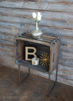 table de chevet style industriel (tutoriel gratuit - DIY) - tutolibre