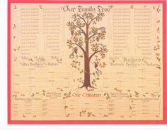 "Printable Blank Family Tree   The Family Tree Chart People"" Stevenson Industries Inc."