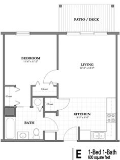 Studio Apartment Floor Plan one bedroom floor plans | clearview apartments, mobile, alabama