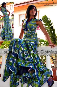 House OF Eccentric Clothing african print dress African Inspired Fashion, African Dresses For Women, African Print Fashion, Africa Fashion, African Attire, African Wear, Ethnic Fashion, African Women, Fashion Prints
