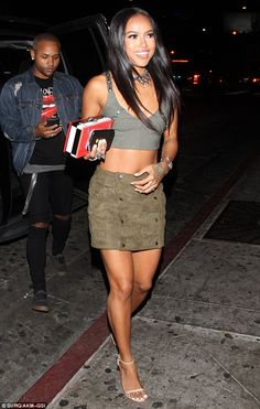 Turning heads: Karrueche Tran showed she is a star in her own right, when she stepped out during a night on the town in West Hollywood with her BFF