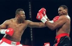 Old Larry Holmes putting the Stick to Oliver McCall in his mid forties. Holmes has the second most defenses of the heavyweight crown with 20.