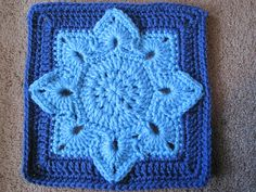 Ravelry: Eight Pointed Flower crochet pattern by Julie Yeager Crochet Granny Square Afghan, Granny Square Crochet Pattern, Crochet Blocks, Baby Blanket Crochet, Crochet Motif, Crochet Flowers, Crochet Baby, Joining Granny Squares, Ravelry Crochet