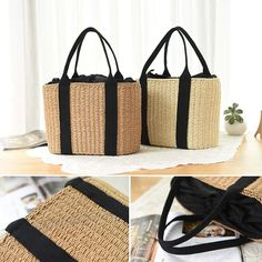 Due to the light and screen difference, the item's color may be slightly different from the pictures. Rattan, Summer Bags, Shoulder Handbags, Straw Bag, Beachwear, Summer Outfits, Weaving, Reusable Tote Bags, Ebay