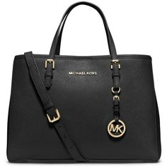 MICHAEL Michael Kors Jet Set Saffiano Medium East-West Travel Tote... found on Polyvore