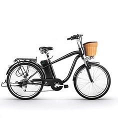 """SPARK's 26"""" NAKTO 250W BLACK Electric Bicycle Sporting Powered 6 speed e-Bike 36V Lithium Battery Adult/Young Adult-Men. * Easy shift 6 speed SHIMANO gear set and Charger UL Approved, we have US warehouse and fast delivery (3-5days) * Allows for plenty of saddle height adjustment to suit the rider and is fitted with a quick-release * Low-Carbon Environmental Protection: Fresh electric car: an electric car, to meet different needs, go out transport, leisure and entertainment, relax..."""