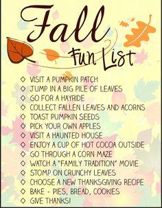 Sumo's Sweet Stuff: .:Autumn Bucket List Printable - Spool and Spoon:.