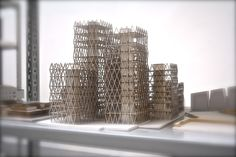 """architecture-apprentice: """" Student structural model from the Venice Architecture Biennale. I still find it amazing how detailed and accurate you can make models by using a laser cutter. Structural Model, Architecture Models, Chandelier, Ceiling Lights, Lighting, Home Decor, Candelabra, Decoration Home, Room Decor"""