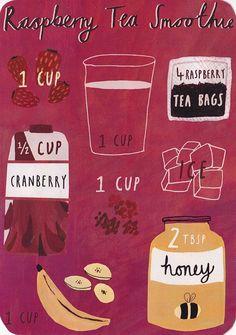 raspberry tea smoothies.