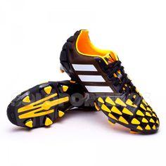 online retailer 9c352 27ef2 Bota de fútbol adidas Nitrocharge 2.0 TRX FG Negra-Blanca-Solar gold