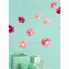 Amazon.com: Martha Stewart Crafts Garland, Pink Lighted Camellia: Arts, Crafts & Sewing