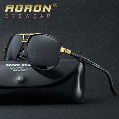 3fa69ee71ec0c Barato Aoron polarized óculos de sol logotipo caixa original óculos de sol  dos homens marca de luxo óculos mulheres designer de lazer óculos de sol  oculos ...