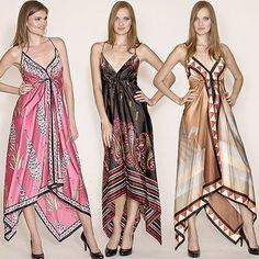 Carrie Underwood: Handkerchief Hem Scarf Dress at Stagecoach Festival