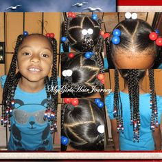 Cute Patriotic Hairdo  ♥   Cute for Independence Day