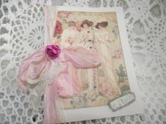Three  Ladies Shabby Chic Style Card Adorned IN Seam by mslizz, $6.00