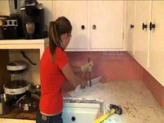 Stephanie's step by step Kitchen remodel -  Step 1 Demo of old tile countertops