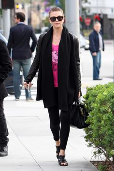 Charlize Theron – tights Candids out in Beverly Hills-03