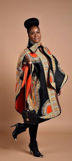 Rahyma Dashiki Poncho. Luxury has arrived with this comfortable Unisex African print Poncho, fully lined with cashmere to keep you warm. Wear it over a coat or a sweater Its edges are Trimmed with Pleather, A perfect gift for Valentine. Ankara   Dutch wax   Kente   Kitenge   Dashiki   African print dress   African fashion   African women dresses   African prints   Nigerian style   Ghanaian fashion   Senegal fashion   Kenya fashion   Nigerian fashion (affiliate)... - Street Fashion