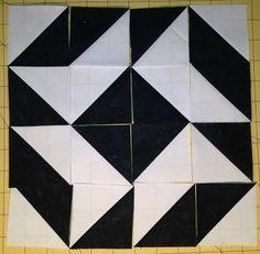 Half square triangle -- Block 5 -- dancing star