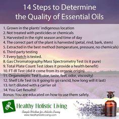 Quality of essential oils