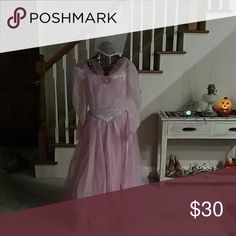 Glinda the Good Witch Costume Size large but fits like a medium.  Includes dress and Crown Dresses