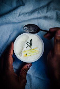 lemon rosemary ice cream with lemon poppy seed marshmallows | Nik Sharma