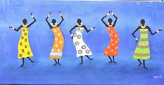 african art painting Original Handmade Art Painting by artbymaite