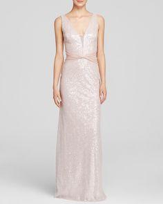 Vera Wang Gown - Sleeveless V-Neck Sequin Chiffon Waist   Bloomingdale's ($410)