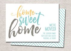 new address card, we've moved card, new address, we've moved, home sweet home