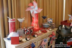 Having a patriotic themed party?  Check out the candy station from our Star Spangled Babies shower hosted by our DC Metro Field Office.  (pic by Washington Executive Photographic Services)