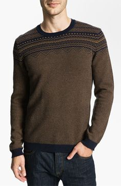 Ted Baker London 'Micemen' Fair Isle Crewneck Sweater available at #Nordstrom