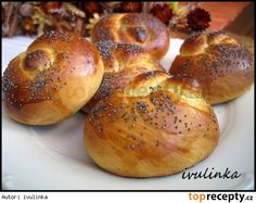 Czech Recipes, Ethnic Recipes, Bread Recipes, Cooking Recipes, Bread Dough Recipe, Homemade Dinner Rolls, Bunt Cakes, Bread And Pastries, Bread Rolls