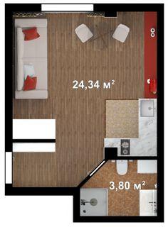 Однокомнатная квартира-студия 28м  Цена квартиры: 1 833 722 руб. 2 этаж   Купить квартиру в Ялте от застройщика http://eco-dom.org/catalog/yalta ЭкоДом    Однокомнатная квартира-студия 28м http://eco-dom.org/catalog/kvartira/490