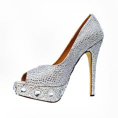 Gorgeous Suede Stiletto Heel Peep Toe With Rhinestone Party / Evening Shoes – USD $ 59.49