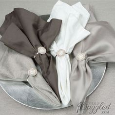 Click here for these stunning pearl and rhinestone napkin rings...only $1.50/ea! www.totallydazzled.com